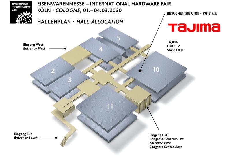 Hallenplan_TAJIMA Kölnmesse